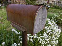 foto van een amerikaanse brievenbus